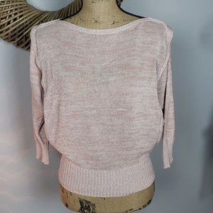Rubbish pink knit boatneck sweater small